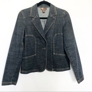 Rafaella Dark Wash Denim Blazer/ Jean Jacket 8P
